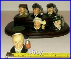 Royal Doulton Tiny Character Jug Set SHERLOCK HOLMES D7011-D7016 LTD ED 393/2500