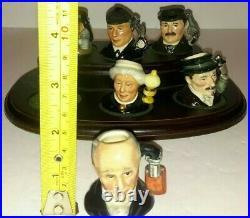 Royal Doulton Tiny Character Jug Set SHERLOCK HOLMES D7011-D7016 LTD ED 772/2500