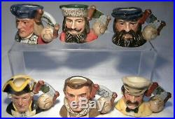 Royal Doulton Tiny Character Jug Set The Explorers + Stand