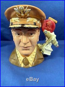 Royal Doulton Toby Character Jug D 7264 General MacArthur 77/100 withBox Signed