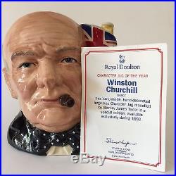 Royal Doulton Toby Jug Winston Churchill D 6907 Large Character Mug Year 1992 SE