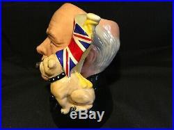 Royal Doulton Toby Mug Winston Churchill Toby Mug 1992 Character Jug Of The Year