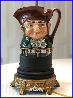 Royal Doulton Toby Old Charley Character Jug Pitcher Green Lamp Antique