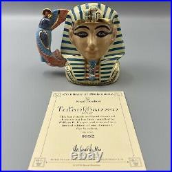 Royal Doulton Tutankhamen D7127 Character Jug 352/1500 COA Small