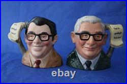 Royal Doulton Two Ronnies Ronnie Corbett Ronnie Barker Character Jugs Boxed/cert