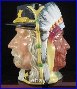 Royal Doulton Two Sided Character Jug Sitting Bull & Custer D6712