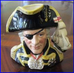 Royal Doulton Vice-Admiral Lord Nelson D6932 Character Jug of the Year 1993 Mint