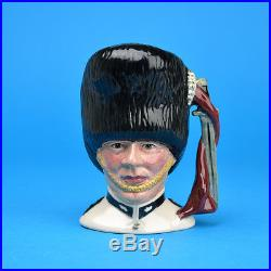 Royal Doulton White The Guardsman Small Character Jug