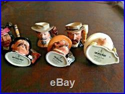 Royal Doulton Wild West Collection of Character Jugs Toby Mugs Excellent Conditi