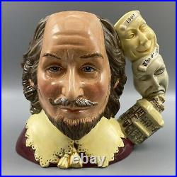 Royal Doulton William Shakespeare Character Jug Of The Year 1999 D7136 Toby LRG