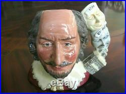 Royal Doulton William Shakespeare D7136 Character Jug of the Year 1999 Mint