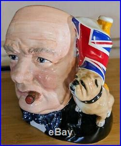 Royal Doulton Winston Churchill Bulldog Character Jug Of Year 1992 D6907 MINT JO