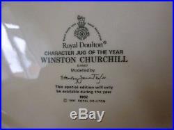 Royal Doulton Winston Churchill Character Jug of the Year Toby Jug 1992