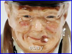 Royal Doulton Winston Churchill Character Toby Jug. By Harry Fenton, 9 1/2Height