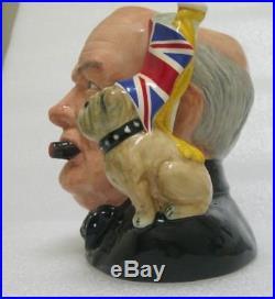 Royal Doulton Winston Churchill Character Toby Jug with COA MINT Jug of the Year