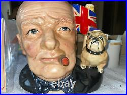 Royal Doulton Winston Churchill D6907 Style 1 -Character Jug of the Year 1992