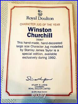 Royal Doulton Winston Churchill, D6907 with Certificate and Extras