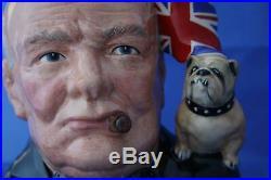 Royal Doulton Winston Churchill Large Character Jug Of The Year 1992 D6907