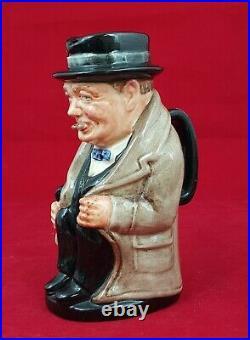 Royal Doulton Winston Churchill Small Character Jug D6175