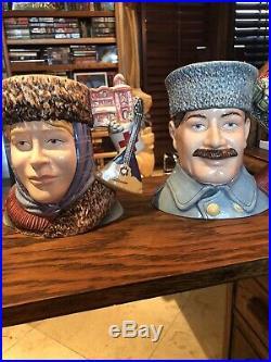 Royal Doulton Zhivago And Lara Character Jugs