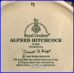 Royal Doulton'alfred Hitchcock' D6987 1994 Large Toby Character Jug Rare