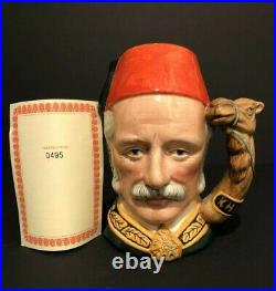 Royal Doulton'general Gordon' D6869 1990 Large Toby Character Jug 495/1500 Cert
