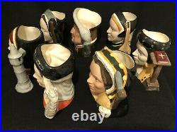 Royal Doulton'henry VIII & Six Wives' Large Toby Character Jugs Complete Set