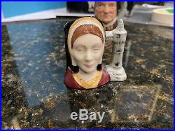 Royal Doulton'henry VIII & Six Wives' Small Character Jugs Complete Set
