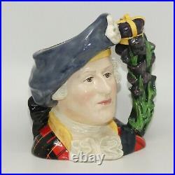 Royal Doulton large character jug Bonnie Prince Charlie D6858 ROYALTY UK Made