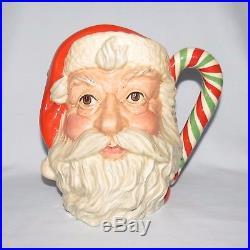 Royal Doulton large character jug Santa Claus D6840 Red/Green Candy Cane handle