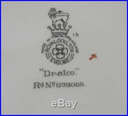 Royal Doulton large character jug, Sir Francis Drake D6115 hatless, 1940-1