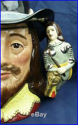 Royal Doulton large double handled character jug KING CHARLES 1st LTD EDT D6917