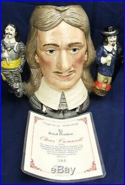 Royal Doulton large double handled character jug OLIVER CROMWELL LTD EDT D6968