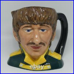 Royal Doulton mid size character jug The Beatles Ringo Starr D6726 slight af