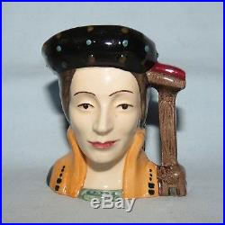 Royal Doulton miniature character jug Henry VIII wife Catherine Parr D6752