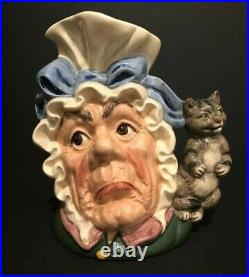 Royal Doulton'the Cook & The Cheshire Cat' D6842 1989 Large Toby Character Jug