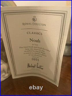 Royal doulton character toby jugs mugs large Classics Noah 2001 D7165 Very Rare