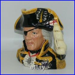 Scarce ROYAL DOULTON Vice Admiral Lord Nelson large character jug D6932 CJY1993