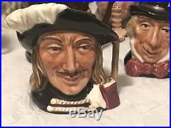 Set of 10 ROYAL DOULTON England CHARACTER Toby Jugs / Mugs First Quality