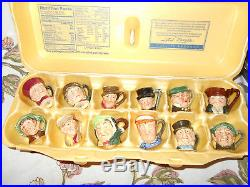 Set of Royal Doulton Character Toby Jug TiniesAll 12 Mint A Dozen All original