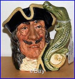 Small Royal Doulton Character Jug Captain Hook D6601 Excellent