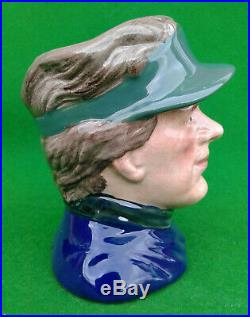 Small Royal Doulton Character Jug The Golfer Prototype Colourway D6865