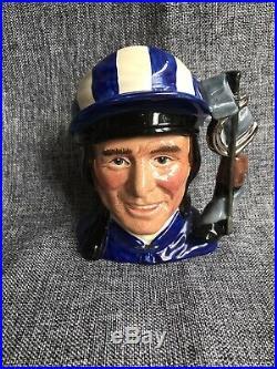 Small Royal Doulton Character Jug Willie Carson OBE