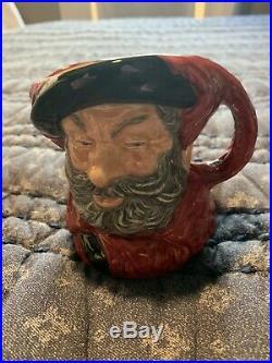 Small Royal Doulton Jug Trial Colourway Character Jug Falstaff D6385