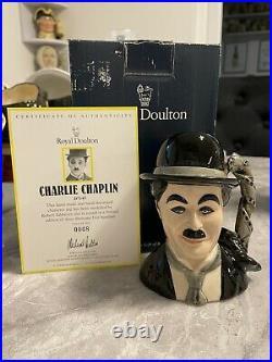 Small Size Charlie Chaplin Doulton Character Jug