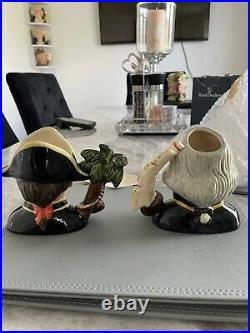 Small Size Pair Of Doulton Character Jugs Captain Bligh & Fletcher Christian