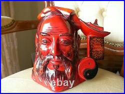 Stunning Royal Doulton Character Toby Jug Confucius Flambe Limited Edition D7003