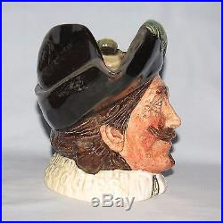 Super scarce Royal Doulton large size Cavalier with Goatee character jug