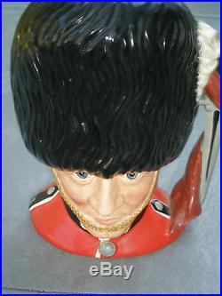 The Guardsman D 6755 Royal Doulton Toby Jug Character Stanley Taylor 1986