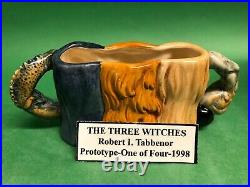 Three Witches Doulton Prototype Character Jug Unique Museum sale